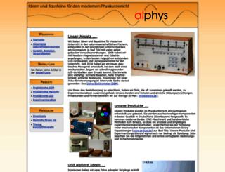 alphys.de screenshot