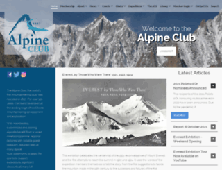 alpine-club.org.uk screenshot