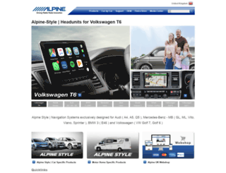 alpine-electronics.co.uk screenshot