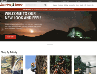 alpineshop.com screenshot