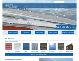 alpinesnowguards.com screenshot