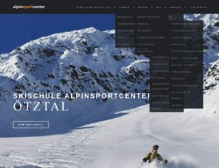 alpinesportsclub.at screenshot