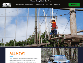 alpinezipline.com screenshot