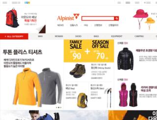 alpinistmall.co.kr screenshot