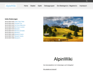 alpinwiki.de screenshot