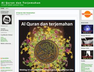 alqurandanterjemahan.wordpress.com screenshot