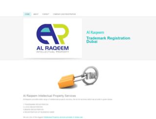 alraqeemtrademarkregistration.weebly.com screenshot