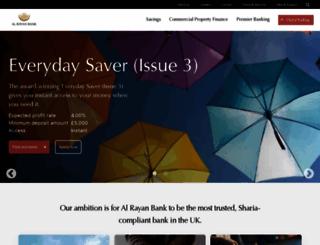 alrayanbank.co.uk screenshot