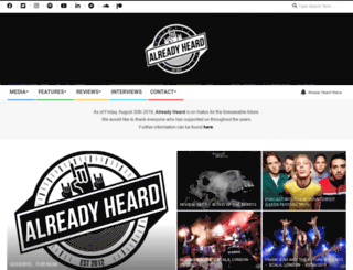 alreadyheard.com screenshot