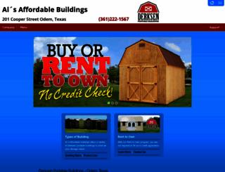 alsaffordablebuildings.com screenshot