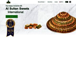 alsultansweets.com screenshot