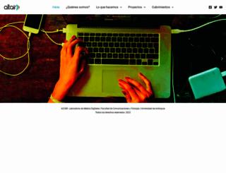 altair.udea.edu.co screenshot