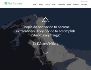altapartners.com screenshot
