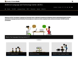 altec.colorado.edu screenshot