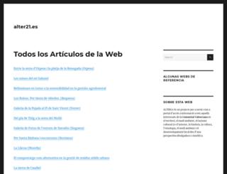 alter21.es screenshot