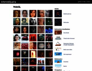alteredqualia.com screenshot