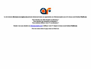 alternance-en-region.com screenshot