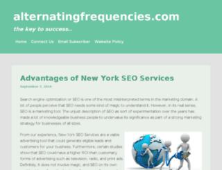 alternatingfrequencies.com screenshot