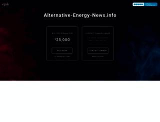 alternative-energy-news.info screenshot