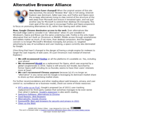 alternativebrowseralliance.com screenshot