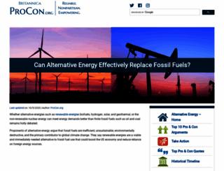 alternativeenergy.procon.org screenshot