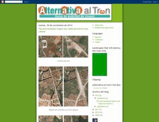 alternativetothetrain.blogspot.com screenshot