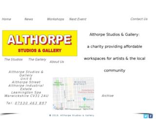 althorpestudios.org screenshot