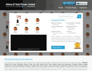 altimahitech.co.in screenshot