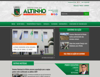 altinho.pe.gov.br screenshot