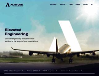 altitudeaero.com screenshot