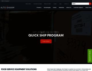 alto-shaam.com screenshot