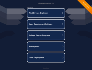 altraneducation.ch screenshot