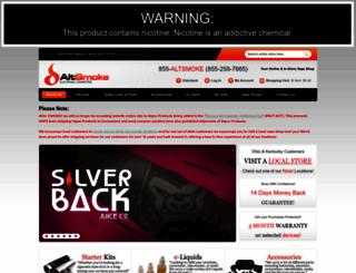 altsmoke.com screenshot
