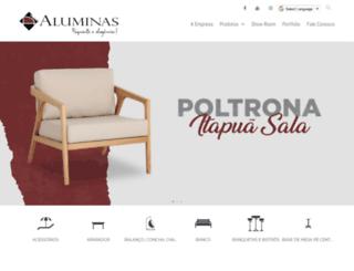aluminas.com.br screenshot