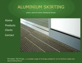 aluminium-skirting.com screenshot