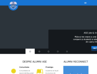 alumni.ase.ro screenshot