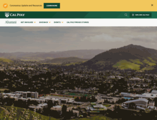 alumni.calpoly.edu screenshot