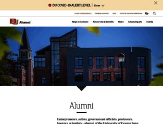 alumni.du.edu screenshot