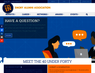 alumni.emory.edu screenshot