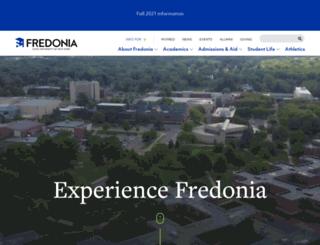 alumni.fredonia.edu screenshot