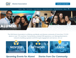 alumni.gwu.edu screenshot
