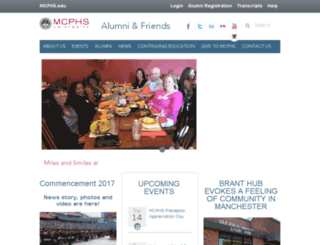 alumni.mcphs.edu screenshot