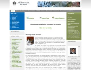 alumni.nitrkl.ac.in screenshot