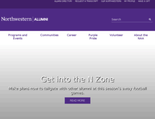 alumni.northwestern.edu screenshot