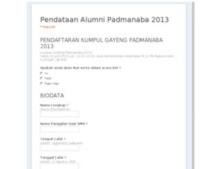 alumni.padmanaba.com screenshot