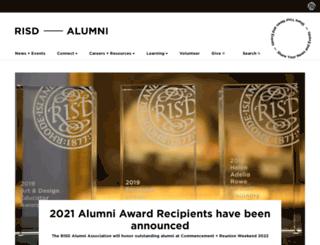 alumni.risd.edu screenshot