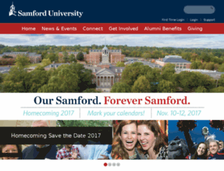 alumni.samford.edu screenshot