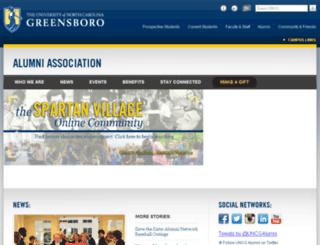 alumni.uncg.edu screenshot