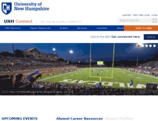 alumni.unh.edu screenshot