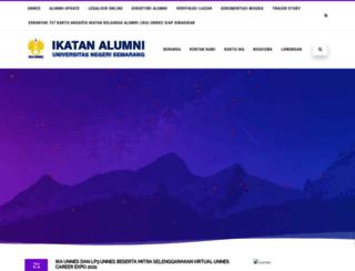 alumni.unnes.ac.id screenshot